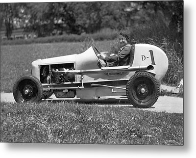 Woman Race Car Driver Metal Print by Underwood Archives