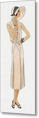 Woman Wearing A Dress By Martial Et Armand Metal Print by David