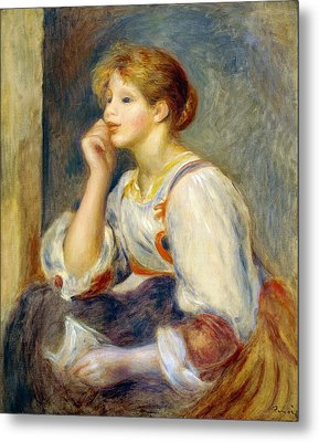 Woman With A Letter Metal Print by Pierre-Auguste Renoir