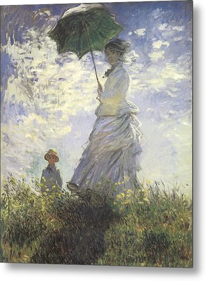 Woman With A Parasol Metal Print by Claude Monet