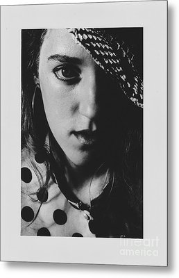 Metal Print featuring the photograph Woman With Hat by Jeepee Aero