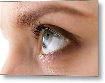 Woman's Eye Metal Print by Daniel Sambraus, Thomas Luddington