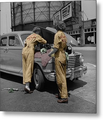 Women Auto Mechanics Metal Print by Andrew Fare