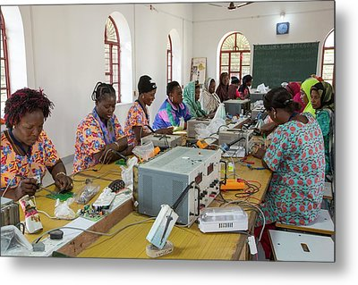 Women On A Solar Workshop Metal Print by Ashley Cooper