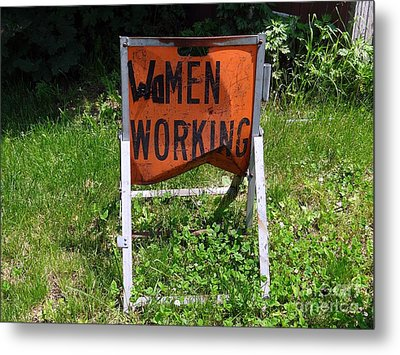 Metal Print featuring the photograph Women Working by Ed Weidman