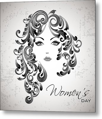 Women's Day Usa Metal Print by Stanley Mathis