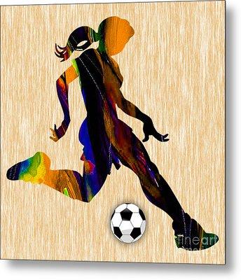 Women's Soccer Metal Print
