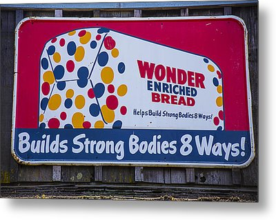 Wonder Bread Sign Metal Print by Garry Gay