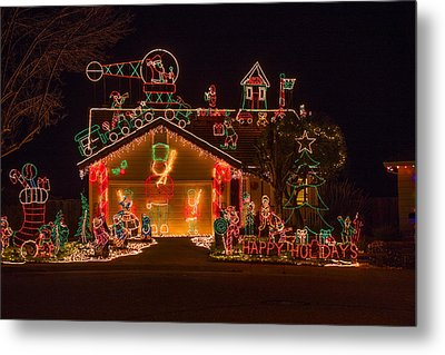 Wonderful Christmas House Metal Print