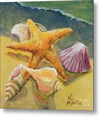 Metal Print featuring the painting Wonderful Find by Vic  Mastis