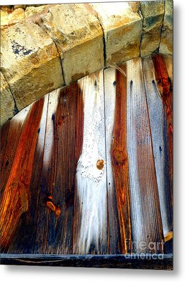 Wood And Stone Metal Print by Lauren Leigh Hunter Fine Art Photography