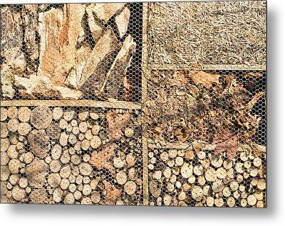 Wood And Straw Metal Print by Tom Gowanlock