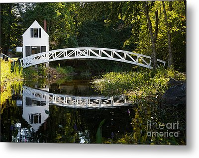 Wood Bridge Somesville Metal Print by Jane Rix