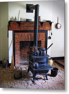 Wood Burning Stove Metal Print by Dave Mills