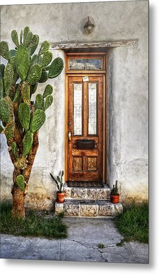Metal Print featuring the photograph Wood Door In Tuscon by Ken Smith