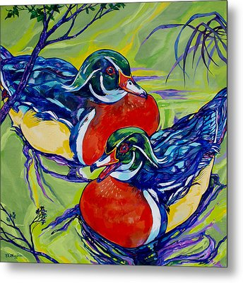 Wood Duck 2 Metal Print by Derrick Higgins