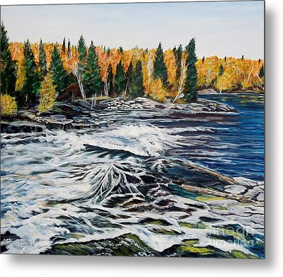 Wood Falls 2 Metal Print by Marilyn  McNish