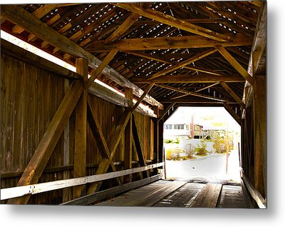 Wood Fame Bridge Metal Print