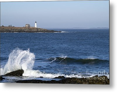 Wood Island Light Metal Print by Patrick Fennell
