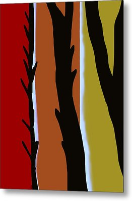 Metal Print featuring the digital art Wood L by Christine Fournier