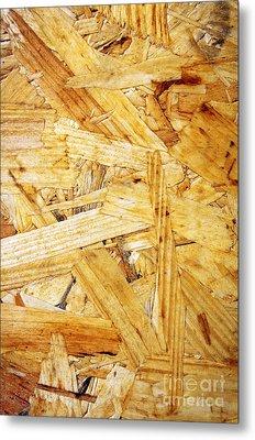 Wood Splinters Background Metal Print