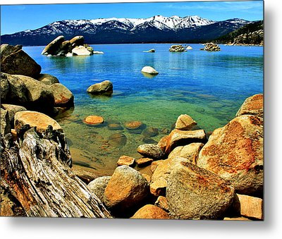 Wood Stone Water Metal Print