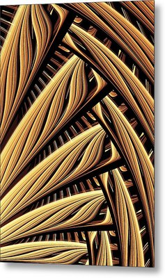 Wood Weaving Metal Print by Anastasiya Malakhova