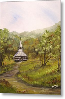 Wooden Church In Transylvania Metal Print by Dorothy Maier