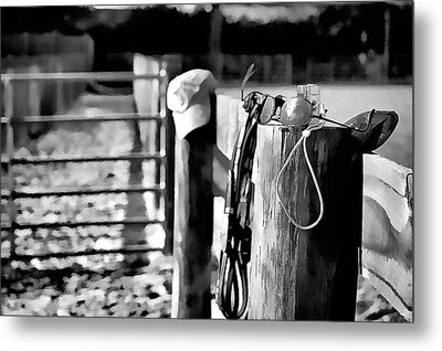 Metal Print featuring the photograph Wooden Fence by Pamela Blizzard