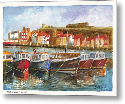 Wooden Fishing Boats In The Whitby Fleet Of Northern England Metal Print by Dai Wynn