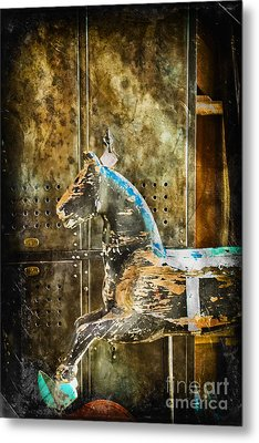 Wooden Horse Metal Print by Colleen Kammerer