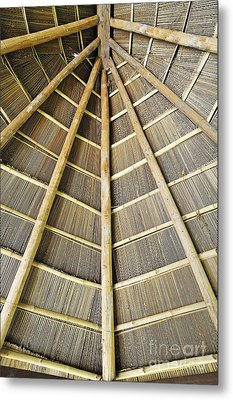 Wooden Roof Metal Print by Sami Sarkis