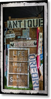 Wooden Signs Metal Print by Sherman Perry