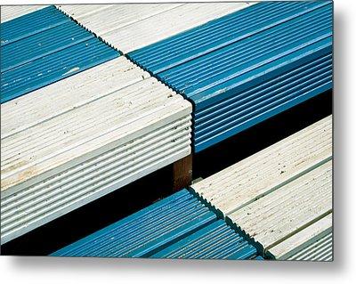 Wooden Steps Metal Print by Tom Gowanlock