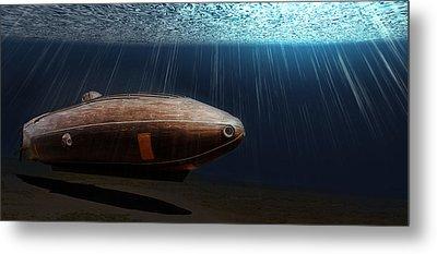 Wooden Submarine Ictineo II Lv Metal Print
