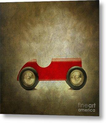 Wooden Toy Car Metal Print by Bernard Jaubert