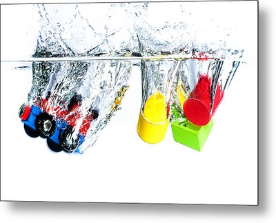 Wooden Toys In Water Metal Print