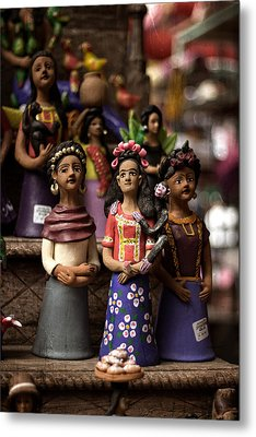 Metal Print featuring the photograph Wooden Women Of South America by Dave Garner