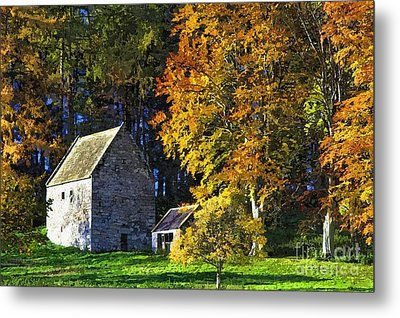 Woodhouses Bastle Northumberland - Photo Art Metal Print by Les Bell