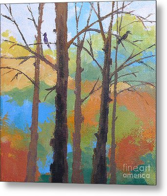 Woodland #4 Metal Print by Melody Cleary