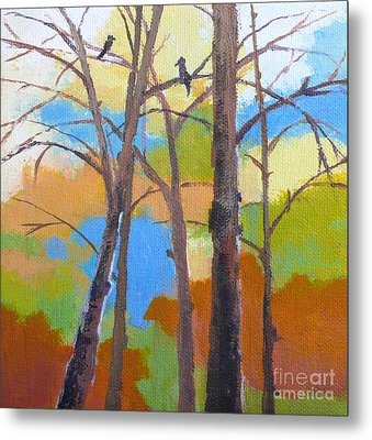 Woodland #5 Metal Print by Melody Cleary