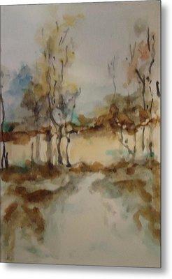 Woodland Landscape Metal Print by Katie Spicuzza
