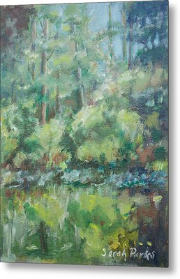 Woodland Pond Metal Print by Sarah Parks