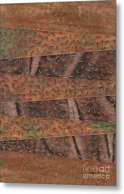 Woodland Quilt Block Metal Print by David K Small