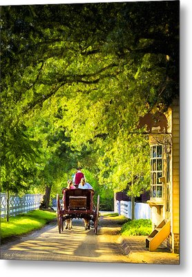 Woodland Ride - Colonial Williamsburg Metal Print by Mark E Tisdale