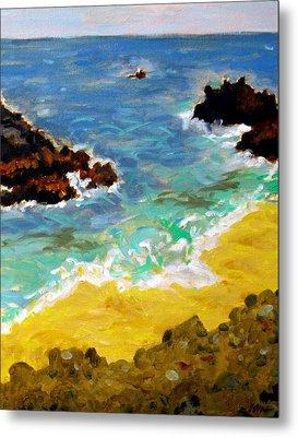 Woods Cove Seascape Laguna Beach California Metal Print