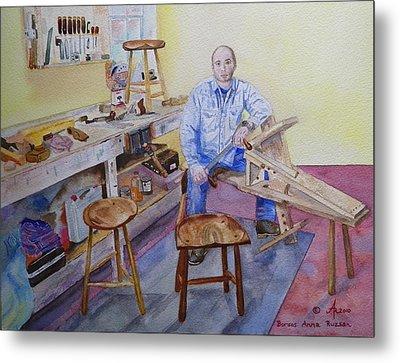 Woodworker Chair Maker Metal Print