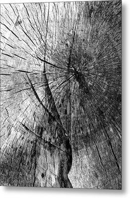Woodwork...shades Of Grey Metal Print