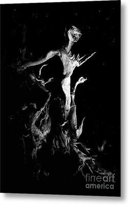 Woody Alien Metal Print by Petros Yiannakas