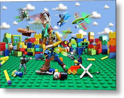 Woody Vs The Little Guys Metal Print by Randy Turnbow